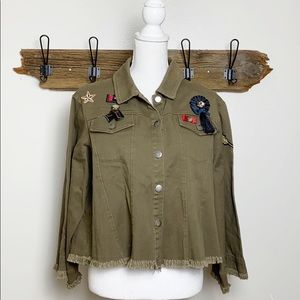 Guest Editor Military Jacket Embellished NWT